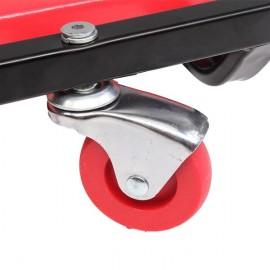 """40"""" Ajustable Creeper for Car Repairing Red"""