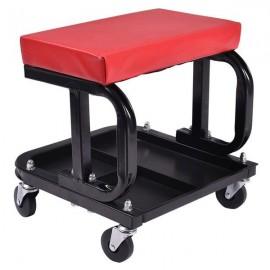 U-Shaped Rolling Creeper Seat Red & Black