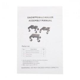3pcs Snow Mobile Dolly Black
